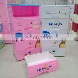 2014 new product decorative cartoon 5-tier plastic drawer