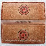 Genuine leather ladies purse wallet manufacturer, original leather ladies moneybag exporter