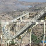 Shanxi Taiyuan Iron and Steel Group fully sealed tubular rubber pipe conveyor of the longest of Asia in 2008