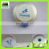 Promotional measuring tape (round shaped glazed silver tape measure)
