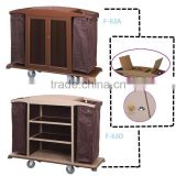 Housekeeping carts linen trolley service cart for hotel