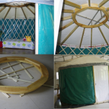 30ft modern yurt made from wooden structure