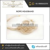 Top Quality Cotton White Rope Headband Available at Factory Price