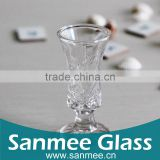 Orchid Patterm Mini Wine/ Liquor Glass Shot Glass