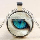 XP-TGN-HE-105 Free Sample Cat Eye Horus Pendant Time Gemstome Dome Cabochon Necklace For Ladies