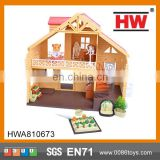 Educational Plastic house play set for kids Toy block house prefab brick house