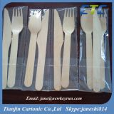 Hot Sale Disposable Wooden Cutlery- Knife & Spoon & Fork