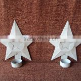 Antique Cast Iron Candle Holder,Iron Star Candle Holder