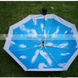 advertisement blue prootional folding umbrella
