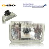 <b>5</b>&#39; SQUARE headlight Galvanized Iron Semi Sealed Beam 12V/24V Auto Halogen <b>Lamp</b> Install H4 or <b>HID</b> H4 <b>Xenon</b> Bulb