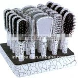 4pcs hair brush and hair mirror comb set