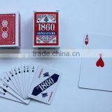 Paper playing card, with custom logo on cards and box