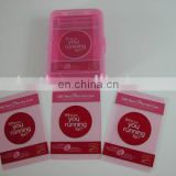 Pink transparent plastic playing cards