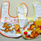 Children's 100% cotton soft customized cartoon printed baby bib cheap eco friendly baby towel 100cotton knitted fabric