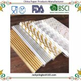 Golden Foil Option Design Paper Straws For Wedding Birthday Party Fashion Drinking Straws Decoration Supplies