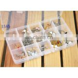 15 Slots Adjustable Storage Box Plastic Case Home Organizer Jewelry