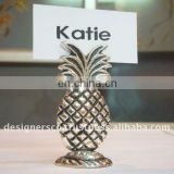 Silver Pineapple Wedding Favor Place Card Holder