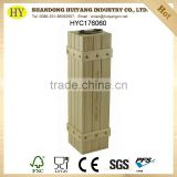 wholesale natural unfinished custom pine wood single bottle wine packaging box with hinge and metal handle