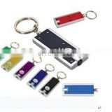 LED light up flashlight keychain white led bulb
