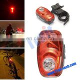 Wholesale EL-600VR 100mA 3-Mode 3-LED Red Laser Bike Bicycle LED Rear Light