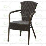 Aluminum Rattan Wicker Chairs for Commercial Outdoor Restaurant