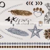 Wholesales Alibaba Gold Tattoo Sticker Metallic Tattoo