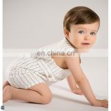 T-BJ001 High Quality Sleeveless Fashion Stripe Baby Jumpsuits