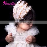 AHB19 Feather Headbands for Girls with Rhinestone
