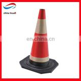 flexible pvc traffic cone,red refective traffic cone