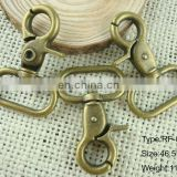solid brass plated snap hook