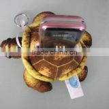 Sea turtle shaped plush toy cell phone desktop holder