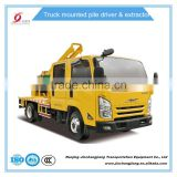 Diesel Pile Driver Truck-mounted Highway Guardrail electric for fencephalitiposts cheap hot sale good quality