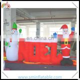 Wholesale inflatable santa with snowman, inflatable christmas santa noel banner,xmas santa claus decor from china manufacturer
