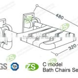 Hot Sale Made of high-tech PU and Stainless steel Swivel Shower Chair
