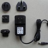 12V 1.5A Interchangeable plug Power Adapter ,USA/AU/EU/UK Plugs LED Light strips,CCTV Camera