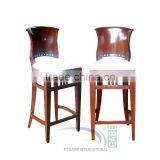 Bar Stool Italy Teak Wood Frame