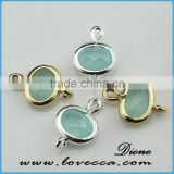 China manufacturer wholesale glass stone drop druzy pendant