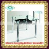 hot selling new design square glass dining table
