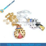 Manufacturers Supply Diamond Ladybug USB Flash Drive 64MB to 64GB                                                                         Quality Choice