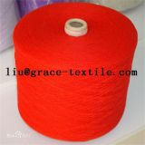 Wool and nylon blended yarn for knitting and weaving