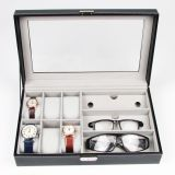 Leatherette Gift Jewelry Collection Glasses Sunglasses Watch Box Jewellery Display Case