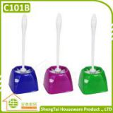 Fashion Low Price Plastic Toilet Brush With Polygon Base