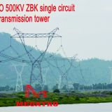 MEGATRO 500KV 5A3 ZBK single circuit tangent transmission tower