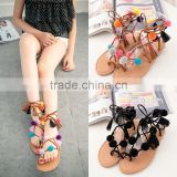 B13384A hot sale lady summer beach flat venonat sandals shoes