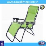 Deluxe Large Zero Gravity Fully Reclining Lounge Patio Folding Chair Backyard + Pillow Green