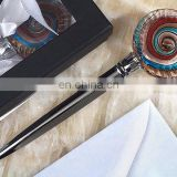 Art Deco Round Glass Letter Opener Favors