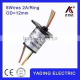 capsule slip ring SRC012-4dia.2mm 4wires 2A/ wires