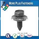 Made in Taiwan Phillips Hexagonal Head SEMS Screw With Flat or Split Lock Washer