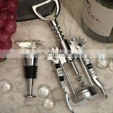 Art Deco Diamond Design Bottle Stopper and Opener Set