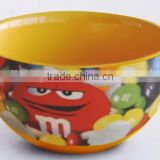 CERAMIC ROUND BOWL WITH M&M BRANDING